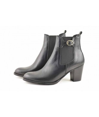ELASTIC AND BUCKLE ANKLE BOOTS